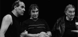 Mohamed Melhaa, Jean-Marc Luneau et Armand Gatti lors de l'expérience de Neuvic, en 2010